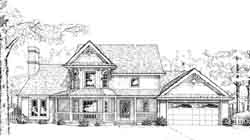 Victorian Style Home Design Plan: 8-908
