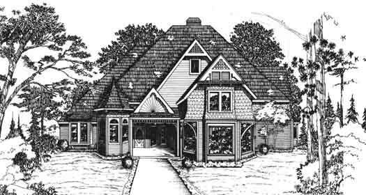 Victorian Style Floor Plans Plan: 8-917