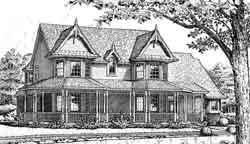 Victorian Style Home Design Plan: 8-918