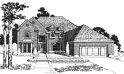 European Style Home Design Plan: 8-924