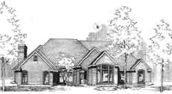 Traditional Style Home Design Plan: 8-934
