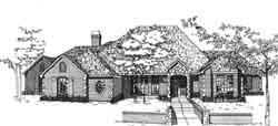 European Style Home Design Plan: 8-936