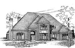 Traditional Style Home Design Plan: 8-937