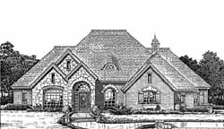 English-Country Style House Plans Plan: 8-974