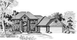 Traditional Style Home Design Plan: 8-994