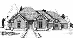 Traditional Style Home Design Plan: 8-998