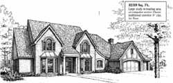 French-Country Style Floor Plans Plan: 8-999