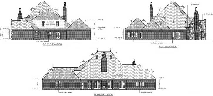 Rear Elevation Plan: 80-101