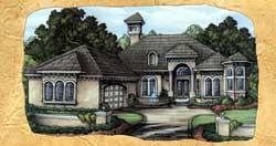 Mediterranean Style House Plans 81-116