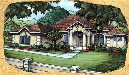Mediterranean Style Floor Plans Plan: 81-119