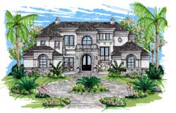 Mediterranean Style House Plans Plan: 82-104