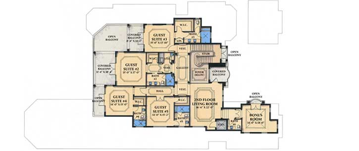 Upper/Second Floor Plan: 82-104