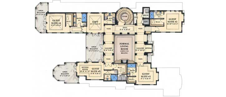 Upper/Second Floor Plan: 82-105