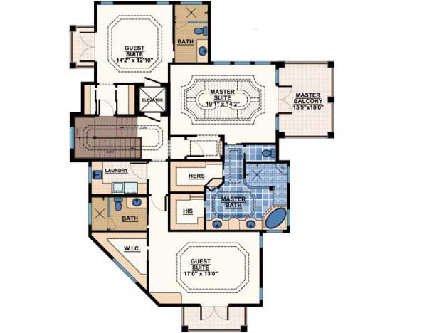 Upper/Second Floor Plan:82-106