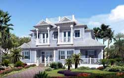 Coastal Style House Plans Plan: 82-107