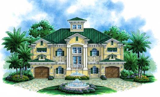 Coastal Style House Plans Plan: 82-108