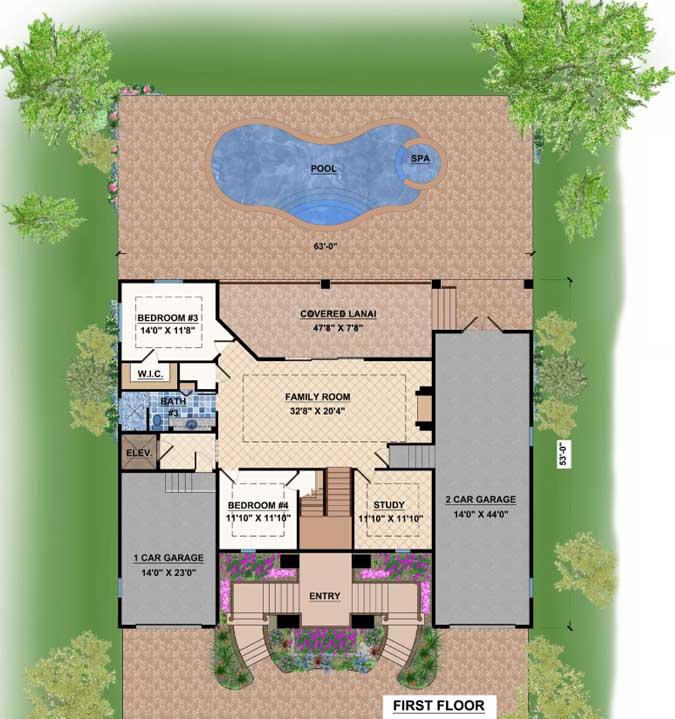 Main Floor Plan: 82-108