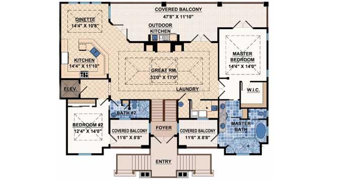 Upper/Second Floor Plan: 82-108