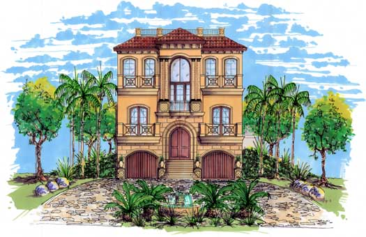 Mediterranean Style Floor Plans Plan: 82-109