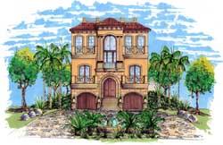 Mediterranean Style House Plans 82-109