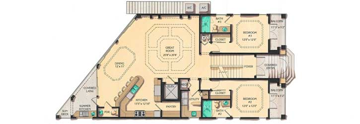 Upper/Second Floor Plan: 82-109