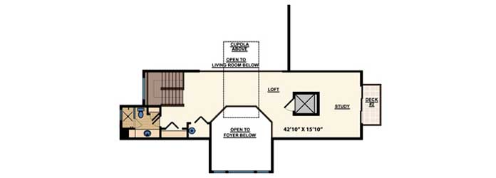 Upper/Second Floor Plan 82-110