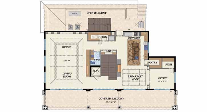Upper/Second Floor Plan 82-112