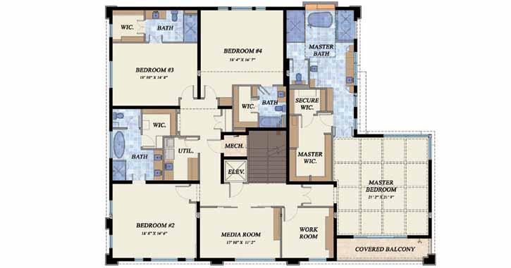 Upper/Second Floor Plan: 82-112