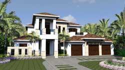 Florida Style Home Design Plan: 82-115