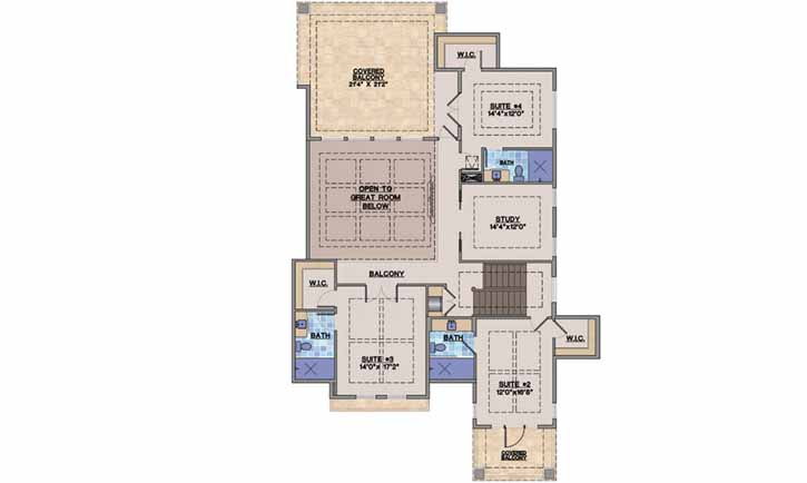 Upper/Second Floor Plan:82-116