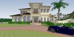 Coastal Style House Plans Plan: 82-118