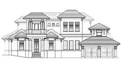 Coastal Style Home Design Plan: 82-119