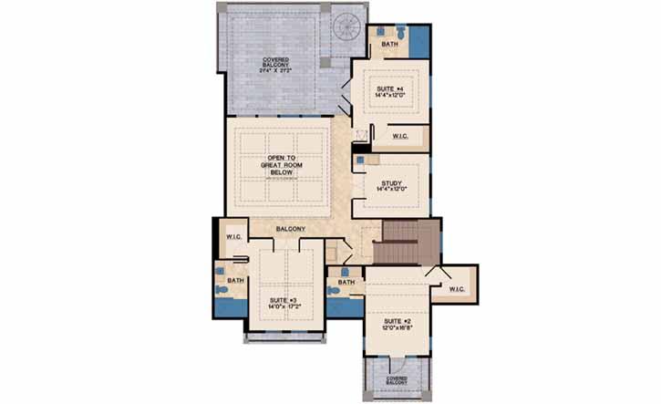 Upper/Second Floor Plan: 82-120