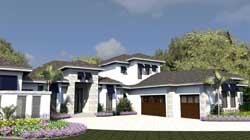 Coastal Style Home Design Plan: 82-121