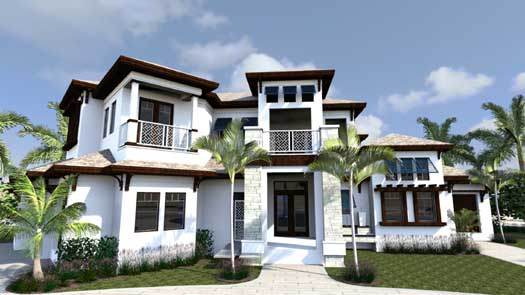 Coastal Style Home Design Plan: 82-123
