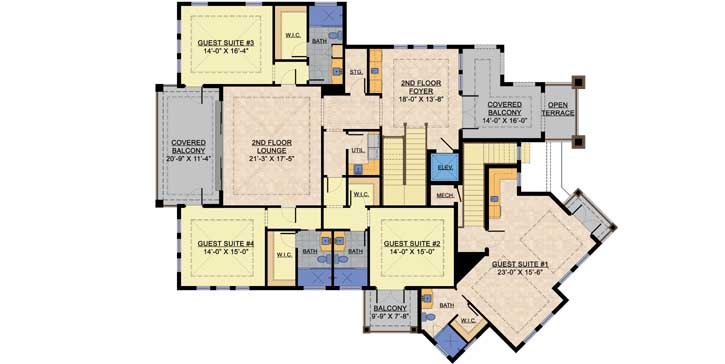 Upper/Second Floor Plan: 82-123