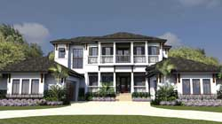 Coastal Style Floor Plans Plan: 82-124