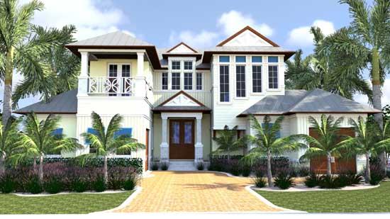 Florida Style House Plans Plan: 82-126