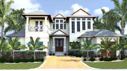 Florida Style Floor Plans Plan: 82-126