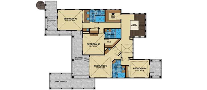 Upper/Second Floor Plan: 82-126