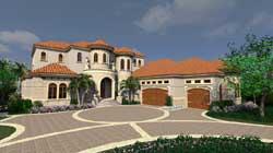 Mediterranean Style Home Design Plan: 82-127