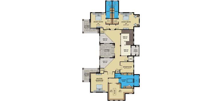 Upper/Second Floor Plan: 82-128