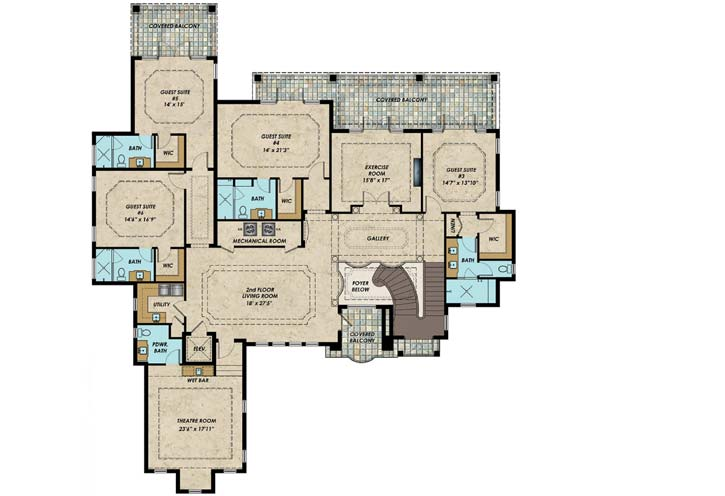 Upper/Second Floor Plan: 82-129