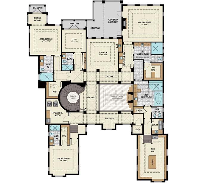 Upper/Second Floor Plan: 82-130