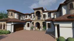 Mediterranean Style Home Design Plan: 82-131