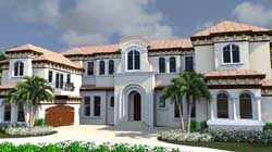 Italian Style House Plans Plan: 82-132