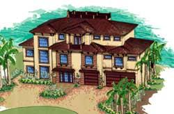 Florida Style Floor Plans Plan: 82-133