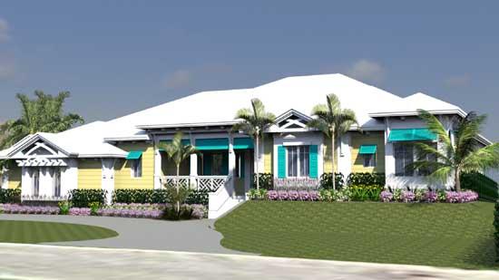 Florida Style Floor Plans Plan: 82-137