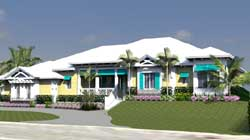 Florida Style Home Design Plan: 82-137
