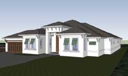 Florida Style Home Design Plan: 82-138